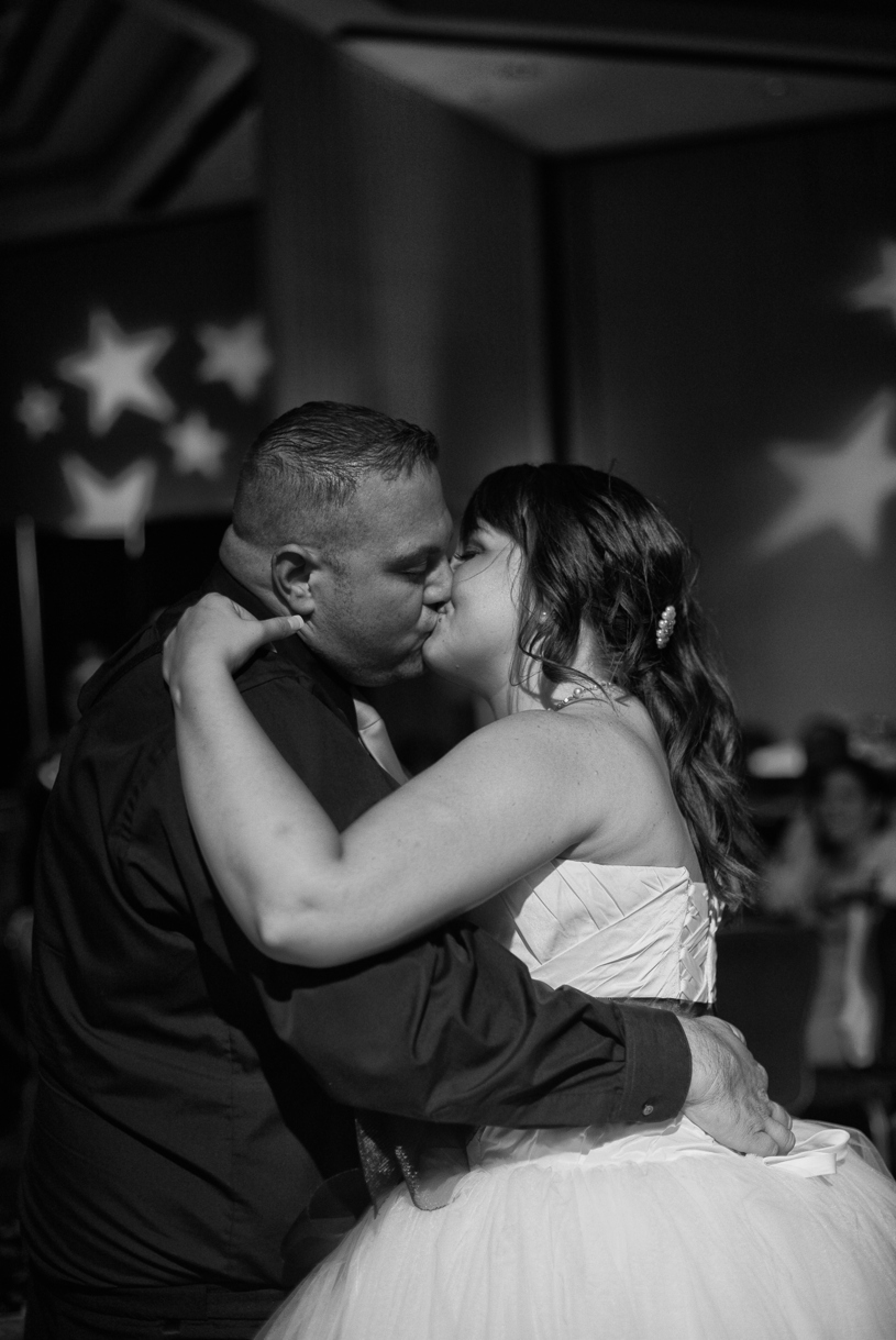 Bride and Groom's first dance during their hot august nights wedding in Reno, California by Matthew Leland Photography