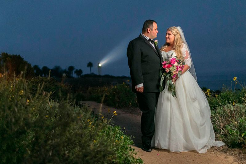 Southern California beach elopement by a lighthouse by Matthew Leland Photography