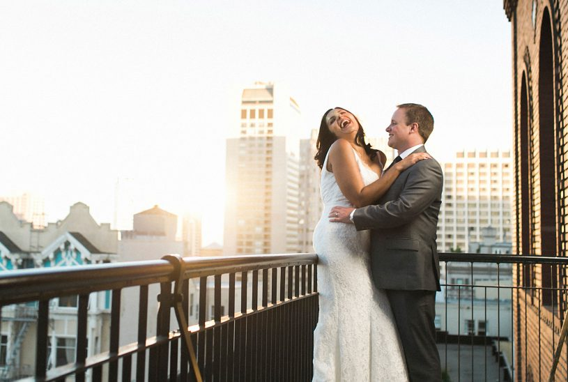 Hilarious and fun San Francisco wedding at the University club with honest laughter by Matthew Leland Photography