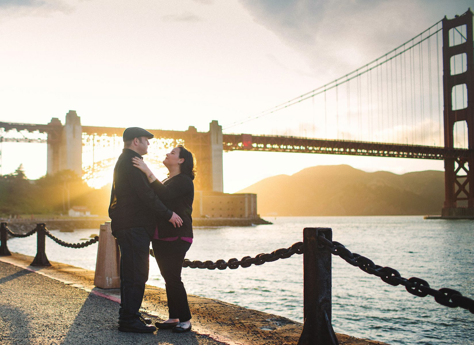 A rockabilly couple's engagement session in San Francisco by Matthew Leland Photography