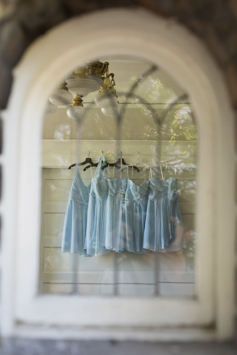 Light blue summer bridesmaid's dresses by Matthew Leland Photography