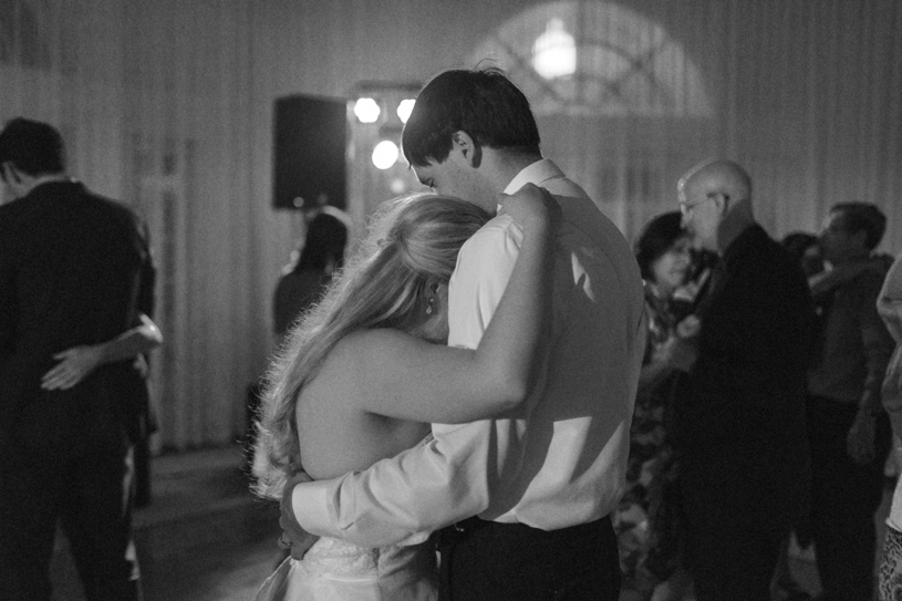 Sweet photo journalistic first dance photo at Vizcaya in Sacramento by Matthew Leland Photography