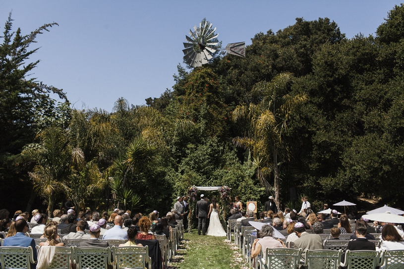 Jewish wedding ceremony on the lawn of the Holly Farm by Matthew Leland Photography