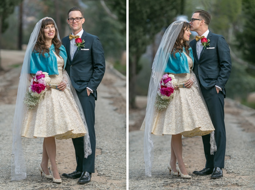 hipster vintage themed wedding in los angeles by matthew leland photography