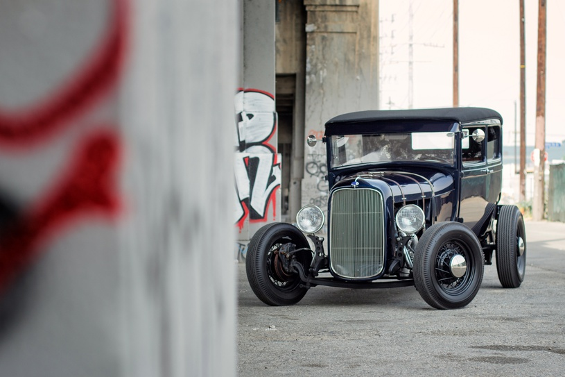 hot rod ford coupe in los angeles by matthew leland photography
