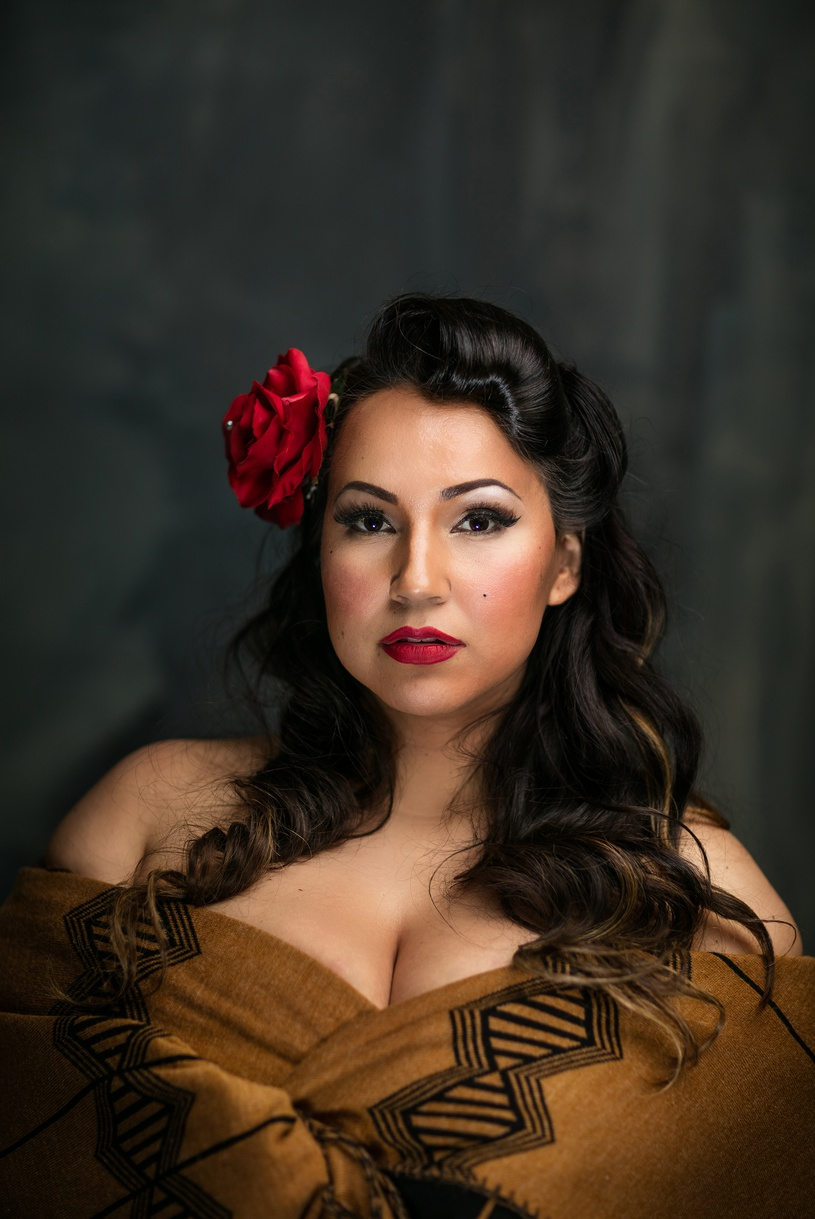 mexican latina portrait in studio by matthew leland photography