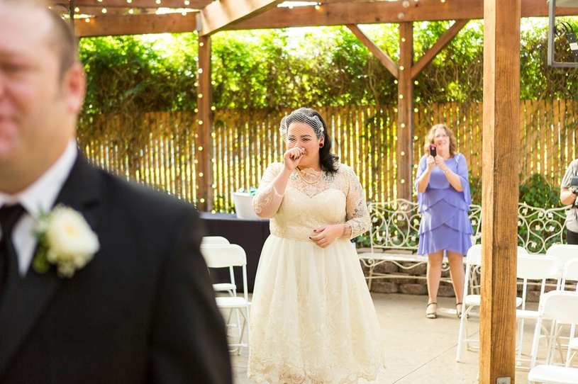 A couple being married at a rustic wedding in Santa Rosa at the Ellington Hall