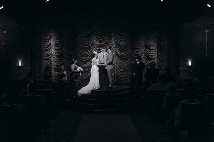Epic Movie Theater wedding in Fontana, California