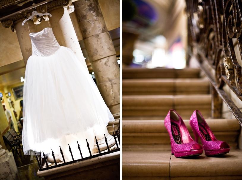 Betsy Johnson wedding heels at a Hot August Nights Casino wedding by matthew leland photography
