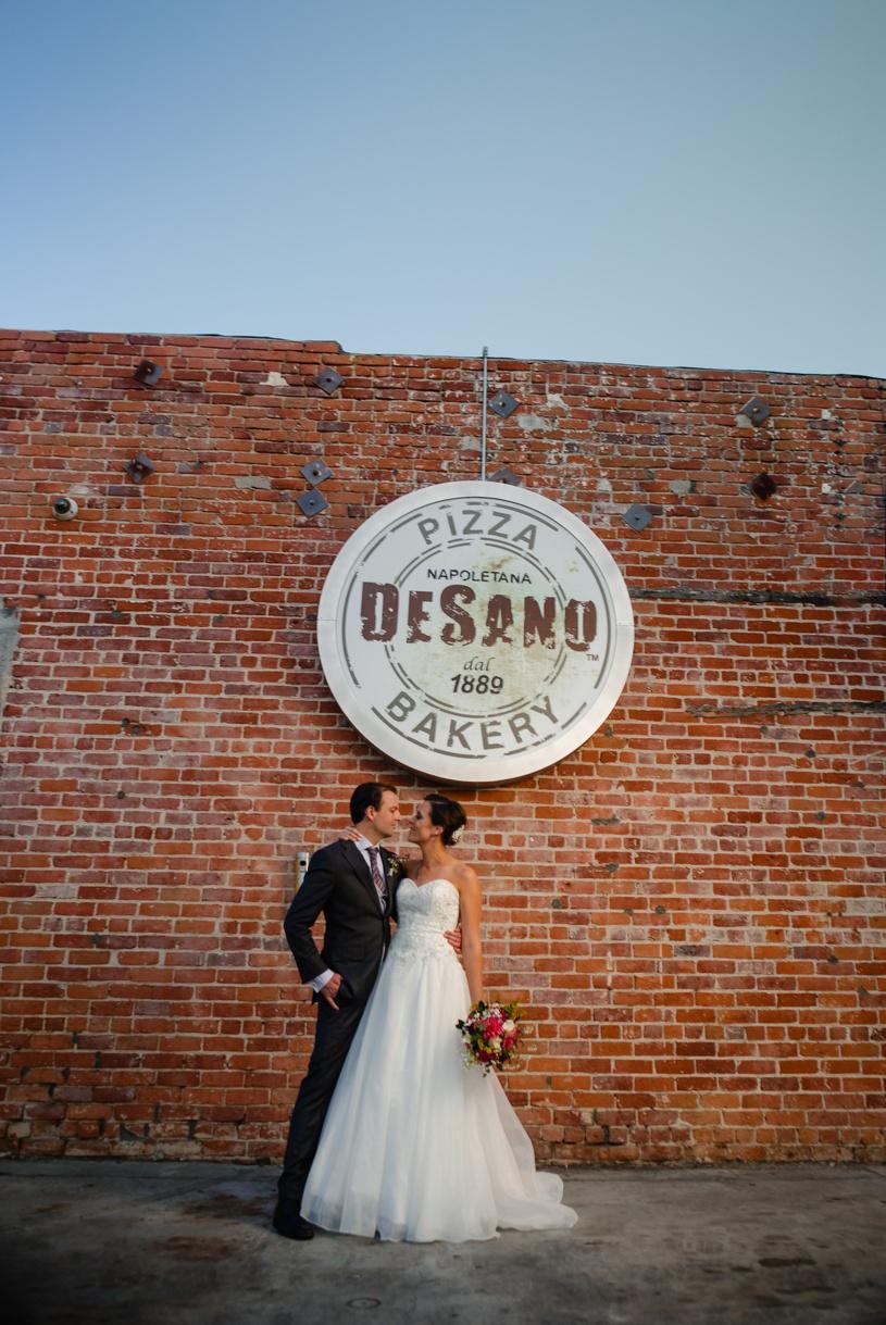 los angeles offbeat wedding pizza party desanos